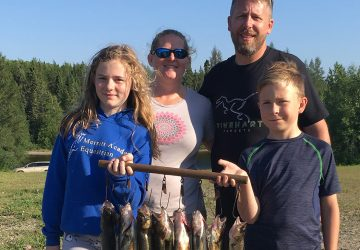 Family With Lots Of Walleye