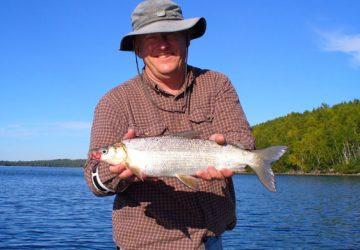 Man Holding Whitefish